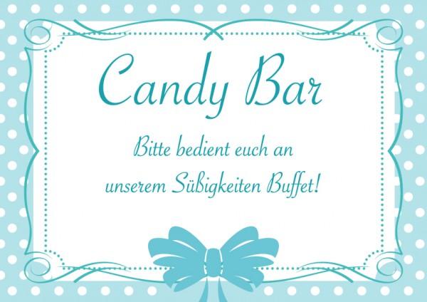 Candybar Schild Blau