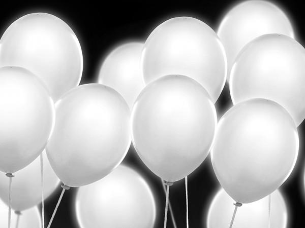 LED Luftballon-Set Weiß