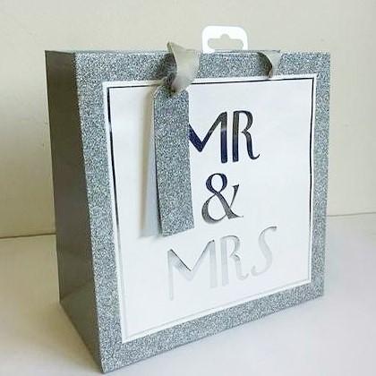 Geschenksackerl Mr. & Mrs. Silber