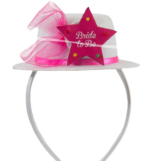 Hut Bride to Be mit LED