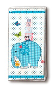 Taschentücher blauer Elefant