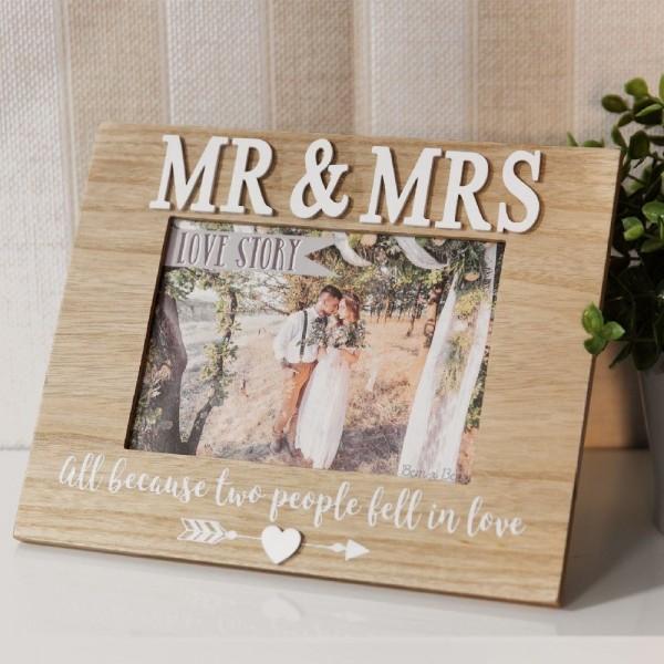 Bilderrahmen Mr. & Mrs. Holz