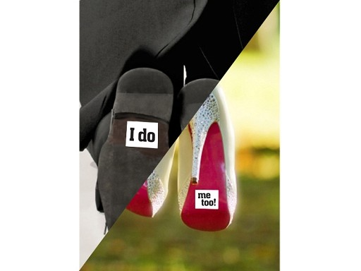 I do-me too Schuh-Sticker