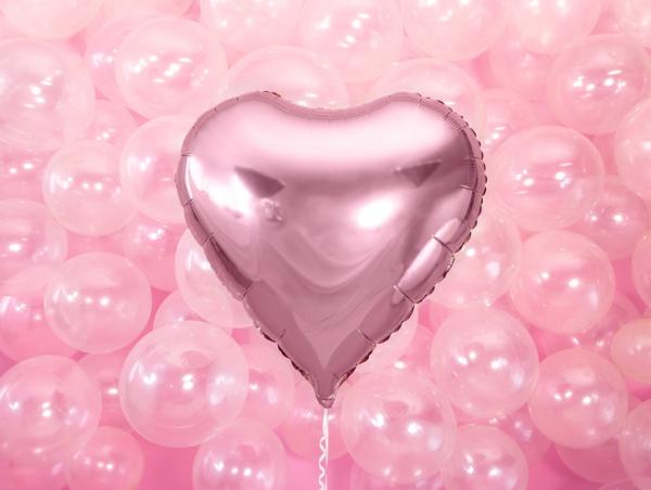 Folienballon Herz Pink