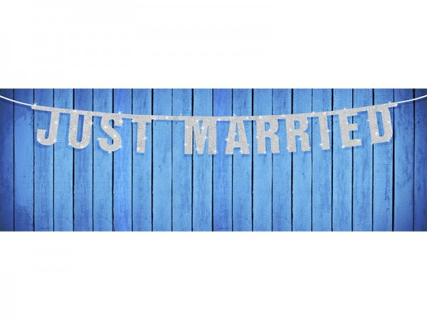 Banner Just Married - glänzend