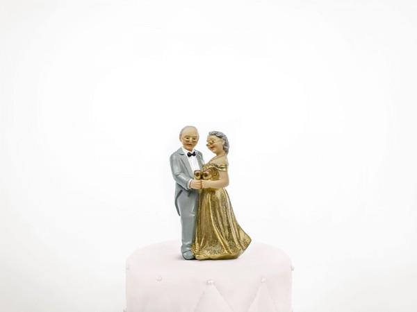 Tortenfigur Goldene Hochzeit