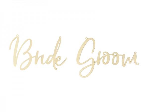 Sesselschilder Bride & Groom Rustikal