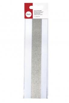 Wachs-Perlstreifen 2mm Silber