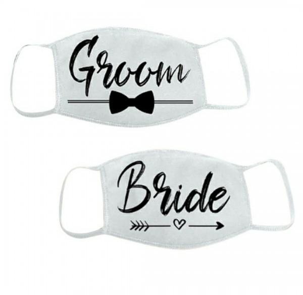 Mund-Nasen-Schutz Gesichtsmasken Bride & Groom