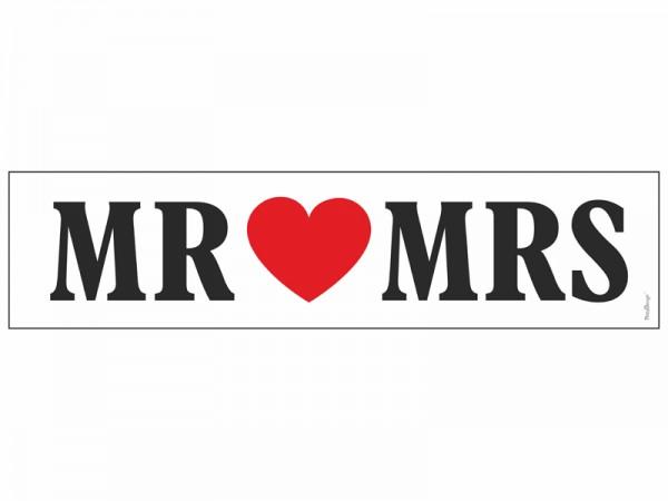 Nummernschild Mr. & Mrs.