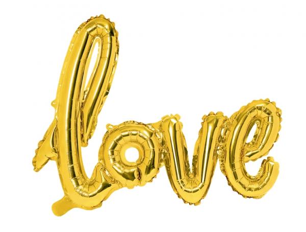Folienballon LOVE Gold
