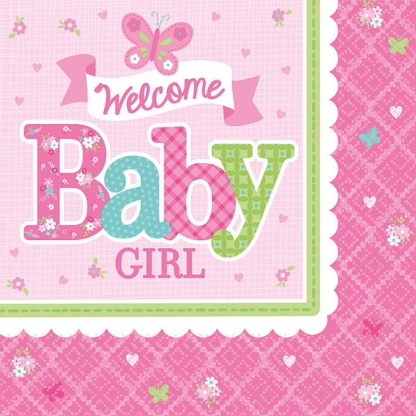 Servietten Welcome Babygirl