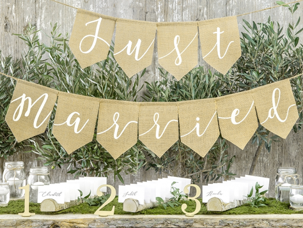 Banner Just Married - Jute