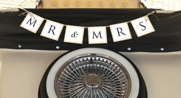 Banner Mr. & Mrs. - Retro