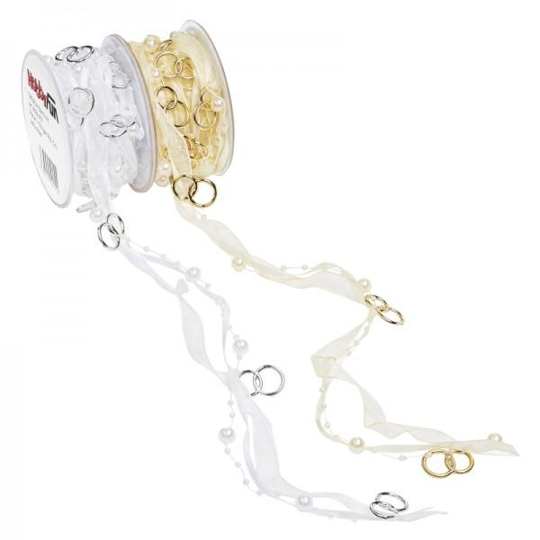 Band mit Perlen und Ringen