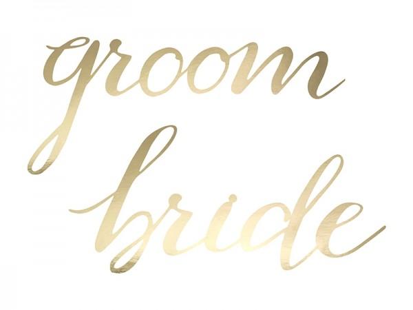 Sesselschilder Bride & Groom