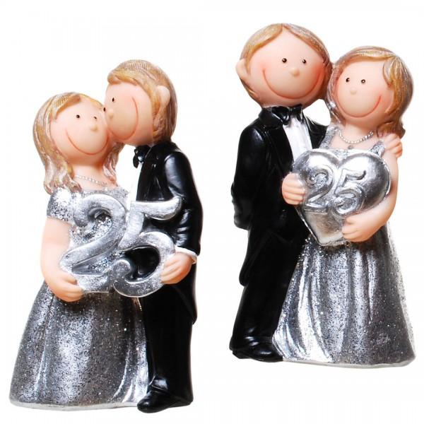 Tortenfigur Comic Silberne Hochzeit