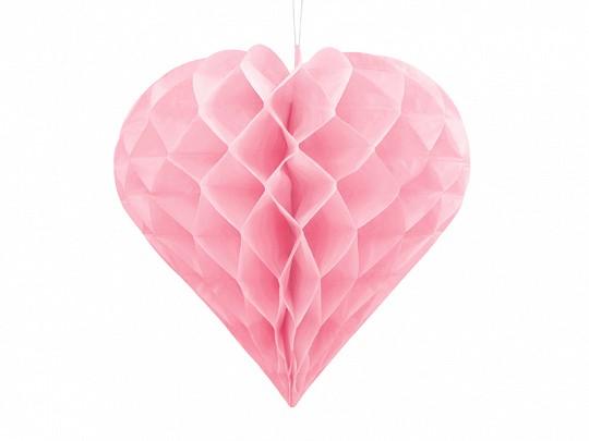 Wabenball Herz Rosa