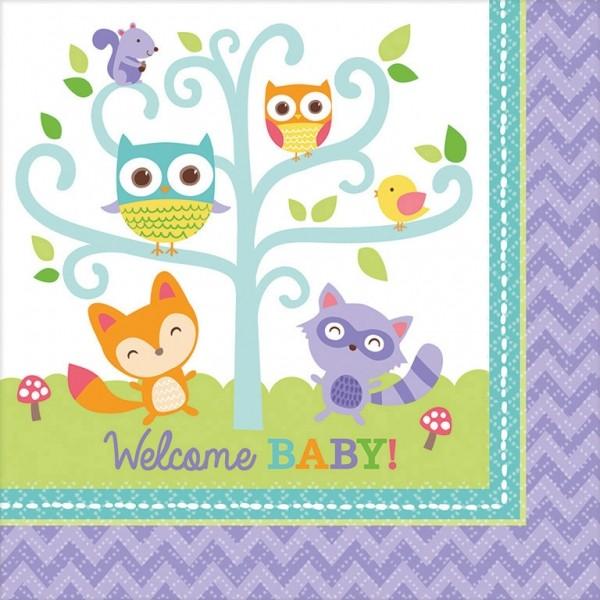 Servietten Welcome Baby