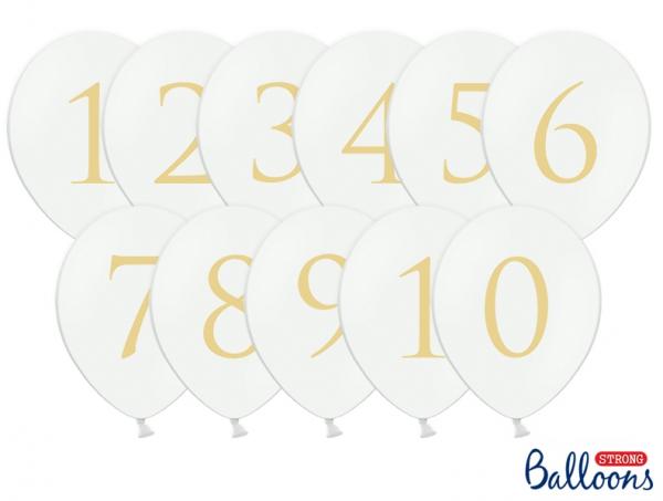 Luftballon-Set Tischnummern