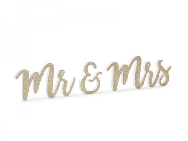 Deko Mr. & Mrs. Gold Glitzer