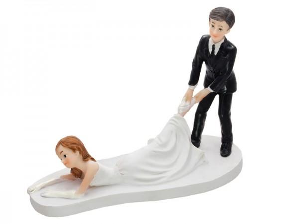 Tortenfigur Abschleppen Braut